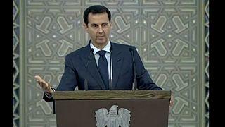 Syrian President Assad shows grattitude for Russia, Iran