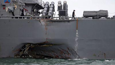 Collision près de Singapour : dix marines américains disparus