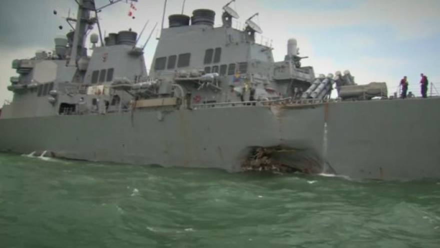 US Navy orders 'operational pause' after warship collision