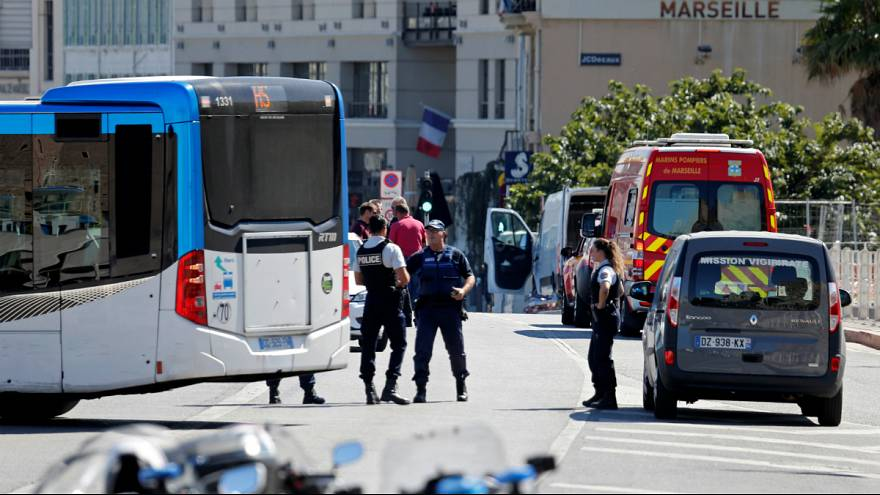 One dead after van crashes into Marseille bus shelters