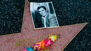 Virágok Jerry Lewis csillagánál