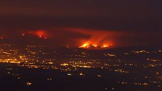 Cinco grandes incendios siguen activos en Portugal