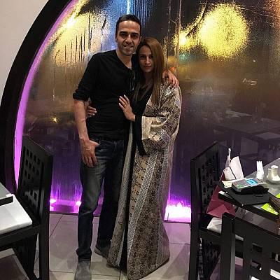 Ayman al-Drees and his wife Malak al-Shehri.