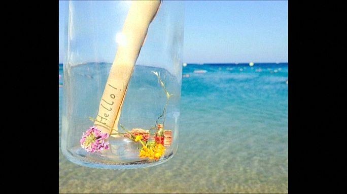 Gaza: Fischer findet Flaschenpost