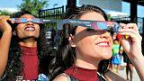 güneş tutulması ABD'de heyecanla izledi