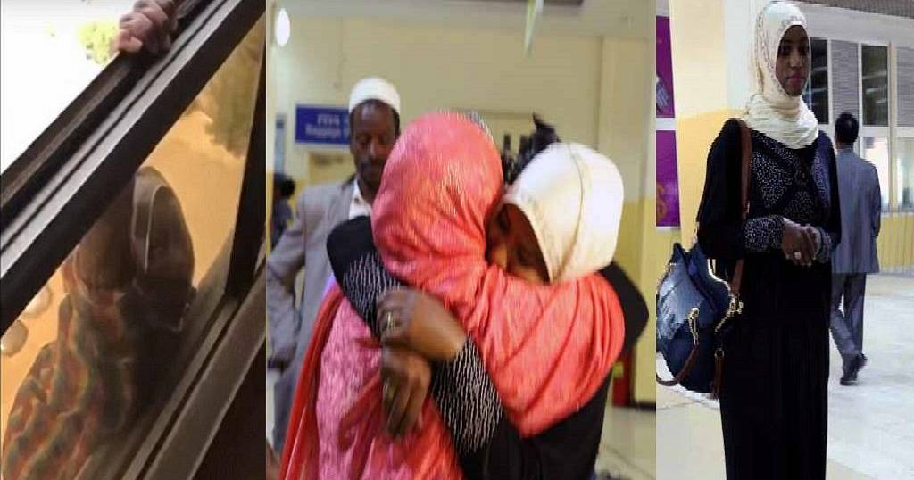 Ethiopian maid thrown off 7th floor of Kuwait apartment returns home