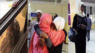 Ethiopian maid thrown off 7th floor of Kuwait apartment returns home