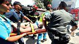 Rescate a la carrera tras el terremoto en Ischia