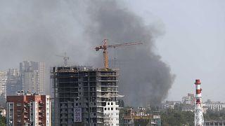 МЧС: Ростов-на-Дону горел из-за мусора