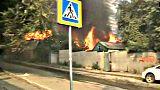 Száz ház égett le egy orosz tűzvészben