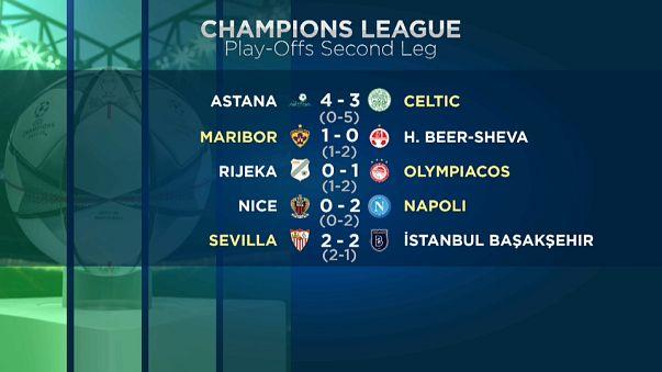 Preliminari di Champions: passano Napoli e Siviglia