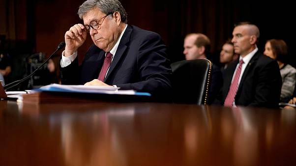 Image: U.S. Attorney General Barr testifies before a Senate Judiciary Commi
