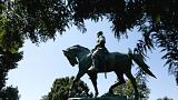 Statue damaged as anger in Charlottesville boils over