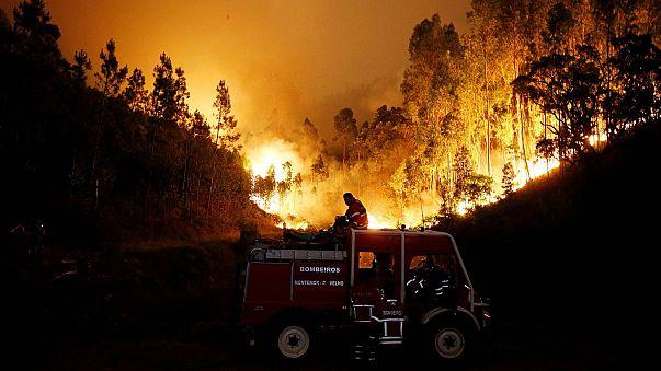 Incêndio na Sertã ameaça aldeias