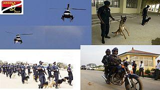 Angola : 120. 000 agents de sécurité, des hélicoptères et des chiens déployés