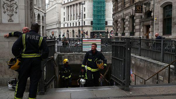 إنذار حريق بمحطة بانك في لندن
