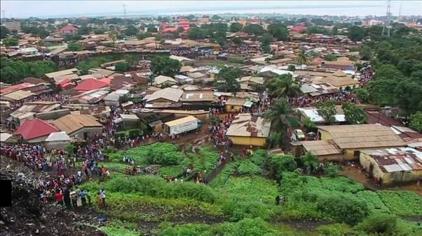 Deadly mudslide hits Guinea capital