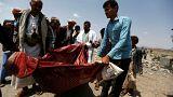 اليمن : مقتل العشرات في ضربتين جويتين قرب نقطة تفتيش للحوثيين