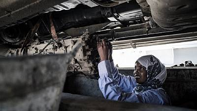 Somalia's first female mechanic: Meet 18-year-old Nasra Haji