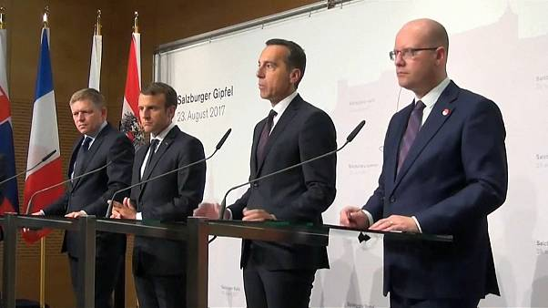 Travail détaché : E. Macron en Autriche pour convaincre
