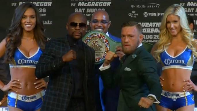 Mayweather & McGregor's muted performance ahead of fight night