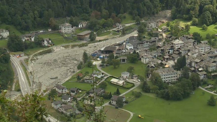 İsviçre'de toprak kayması