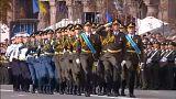 مراسم روز استقلال اوکراین با حضور وزیر دفاع آمریکا برگزار شد