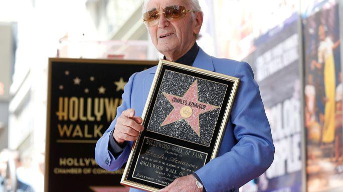 Mit 93 geht der Stern von Charles Aznavour in Hollywood auf