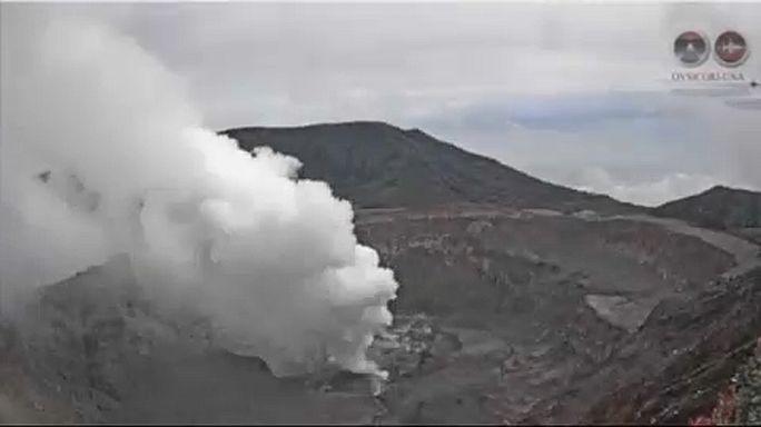 Vulkánkitörés Costa Ricán