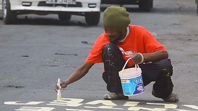 Kenya : des graffitis pour un appel à la paix