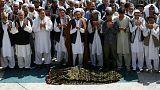 پیکر جانباختگان حمله به مسجد شیعیان در کابل به خاک سپرده شد