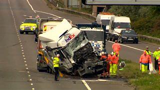 Ocho muertos en un accidente en el sur de Inglaterra
