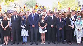 Spain's King Felipe marches with his people in Barcelona