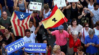 Barselona teröre karşı omuz omuza