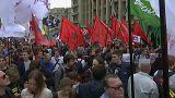 Moskova'da internet sansürüne karşı protesto