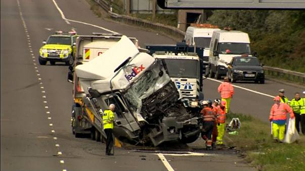 Lorry drivers charged over deadly crash in England