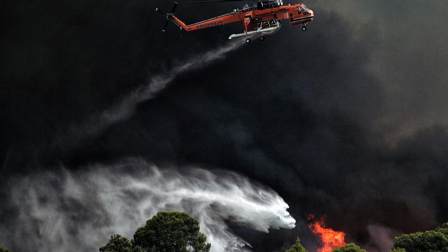 Ζάκυνθος: Ελικόπτερο εντόπισε υπόπτους για εμπρησμό