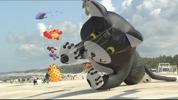 ألوان وأحلام على ضفاف البلطيق: مهرجان دولي للطائرات الورقية