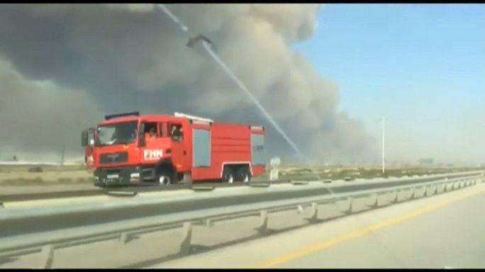 Пожар на военном складе