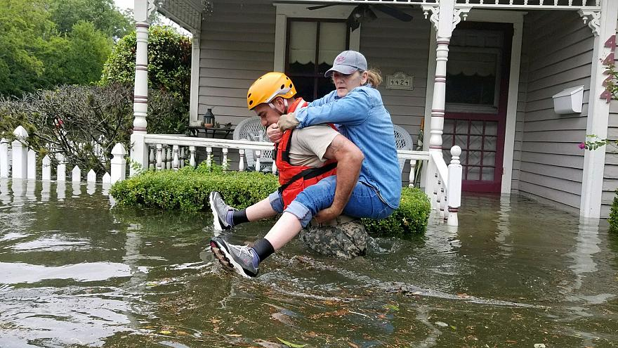 Harvey hits Houston with 'catastrophic flooding'