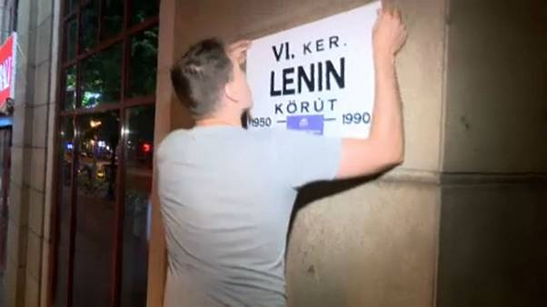 Soviet vibe in Budapest as activists mock Putin visit