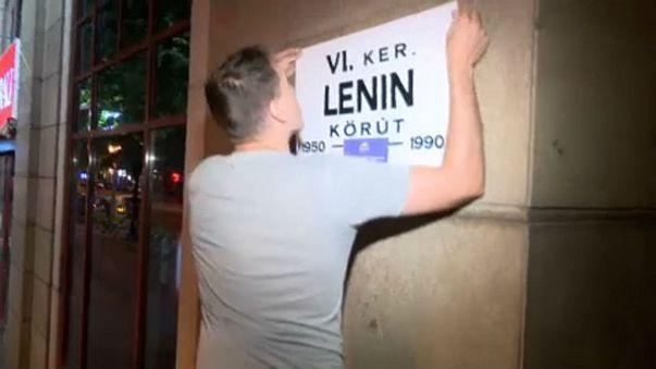 Soviet vibe in Budapest as activists mock Putin visit
