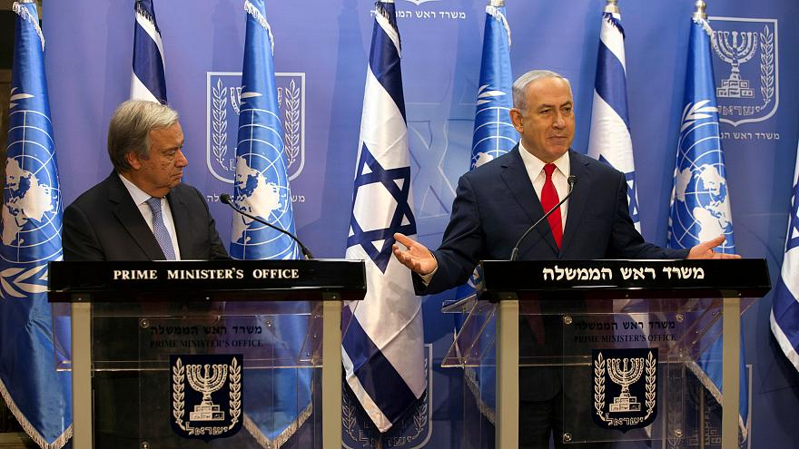 إسرائيل تبدي لغوتيريس انزعاجها من تنامي قوة حزب الله