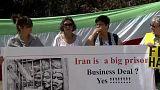 گردهمایی در مقابل کمیسیون اروپا در حمایت از زندانیان سیاسی ایران