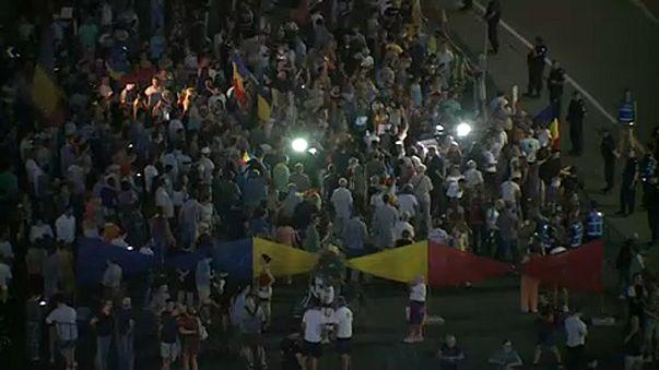 Tüntetés Bukarestben