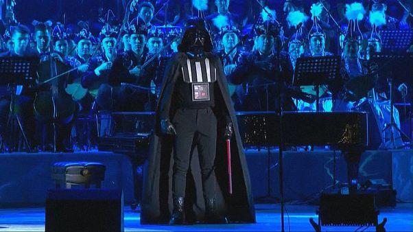 Dark Vador au pupitre pour un concert à Astana
