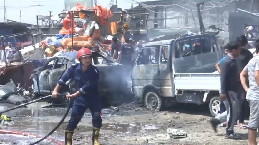 Al menos 13 muertos y 25 heridos en un atentado con coche bomba en Bagdad