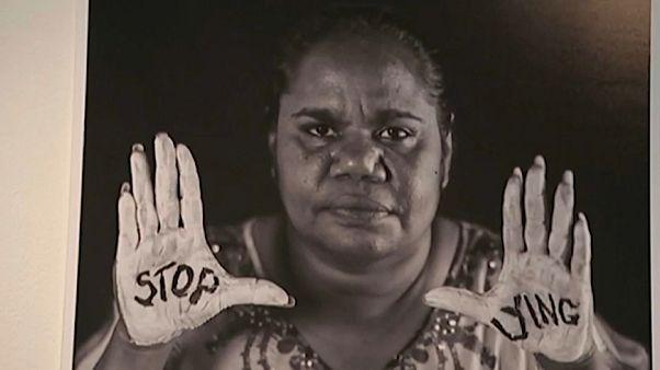 Aboriginal art against mining
