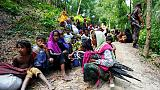 Rohingya Muslims flee Myanmar for Bangladesh