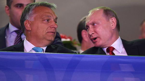 Protest gegen Putin-Besuch in Budapest